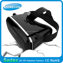 New 3d feeling high quality vr shinecon 3d vr headset box low price 3d vr glasses google virtual reality for cellphones