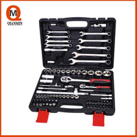"""1/4"""",1/2"""" 82pcs Professional Socket Set, DIN standards, CRV, bicycle repairing and household use/auto repair tool"""
