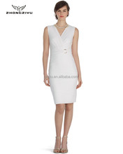 New Design White Pencil Dress Office Lady Z4065