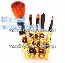 Baikai nuevo diamante de cristal de cepillo del maquillaje, pincel de maquillaje conjunto