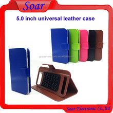 New arrival leather case for 5.0 inch cell phone case ,universal mobile flip wallet leather cases for 5.0 inch cell phone