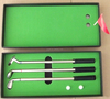 Giveaways and promotional gifts sliver color mini golf club ballpoint pen