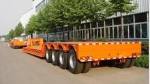 Four Axle Hydraulic Gooseneck Low Bed Semi Trailer