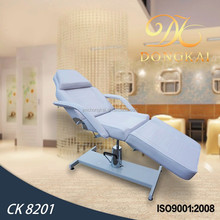 2015 hydraulic facial bed & durable hydraulic adjustable height facial chair& sex tables for sale(CK 8201)