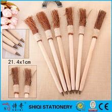 wooden eco broom besom shaped ballpoint pen