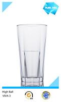 2015 new design plastic dining glass ware