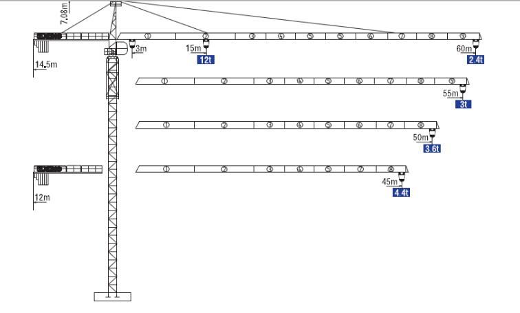 construction crane Tower Crane QTZ200(6024-12)