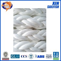 8 strand polyester rope for marine , high tensile strength rope , polypropylene mooring rope