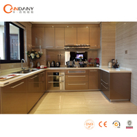 European standard easy fitted simple design lacquer kitchen cabinets,kitchen manufacturer