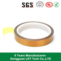 Dongguan brown masking silicone adhesive esd polyimide film tape