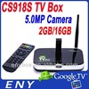 16 gb Android Tv Box with Camera CS918S Allwinner A31 Quad Core