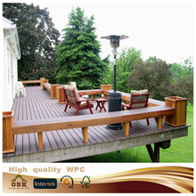 New design 100% recycled outdoor WPC deck price/rich wpc wood