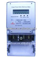 Single phase tamper protection static kwh meter ( energy meter, electronic meter )