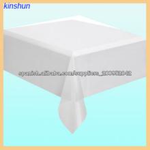 blanco barato mantel cuadrado dispoable con certificación SGS