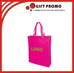 Promotional Pink Colour Shopping Non Woven Bag