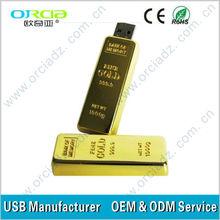 Gold Metal USB Flash Drive Gold USB Bar
