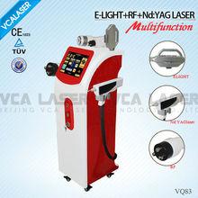 Fast and safe RF/E-light/Nd:YAG skin whitening machine
