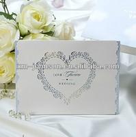 China manufacturer heart shaped wedding invitation card