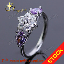 made in china flower shape imitation diamond ring XYR100323
