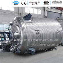 Jinzong Machinery Stainless steel chemical reaction tank 10000l reactor with half coil heating