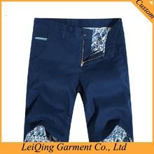 Washed Slimming man fashion cargo shorts with belt cotton twill