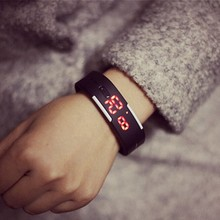 Fashion color jelly candy watches LED touch bracelets bracelets sport watches