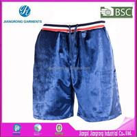 Produce as sample professional factory cheap short sport velvet pants for man