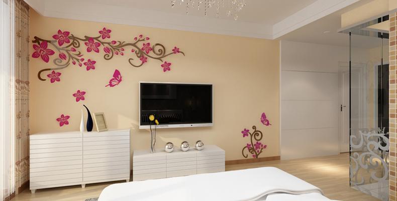 Miroir d coratif acrylique arbre 3d d coration murale for Autocollant decoration murale