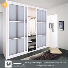 2015 cheap clothes closet big wardrobe cabinet design furniture with sliding door