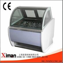 IC/CE/UL Ice Cream Showcase Freezer/Cabinet Reach to -25 Degree