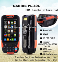 CARIBE PL-40L AY082 android pda ,Industrial smartphone , with 1D/2D barcode scanner 3G wifi bluetooth