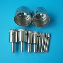 Long life electroplated diamond drilling core drill bits cut hole in glass