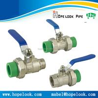 In stock PPR ball valve long handle PPR ball valve PPR brass ball valve