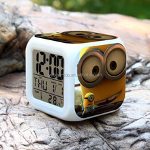 Despicable Me Minions Alarm Clock, Kitchen Clock, Calendar Clock with LCD Screen