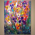 amazing abstracto pintura floral para el hotel