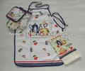 70*77cm personalizada impressa algodão longo avental de cintura para criança