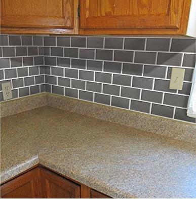 3d Gel Brick Effect Self-adhesive Splashback Tile Sticky Wall Tile ...