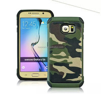 Heavy duty hybrid rugged silicone cases with stander for Samsung galaxy S6