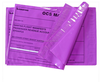 self adhesive plastic mailer bag/pouch with back pouch for waybill