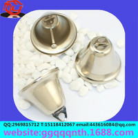 Manufacturers wholesale Taiwan Hong Kong 40/45mm low price christmas metal iron horn shape mini small bell accept OEM and ODM