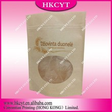 Kraft paper plastic bag for dried food/resealable zipper bag