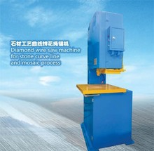 Diamond wire saw machine for stone curve line and mosaic process