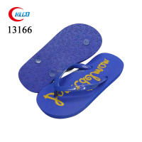 Blue kids beach EVA wholesale solid color flip-flops