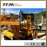 60T/H mobile asphalt mixer, mobile asphalt mixing plant