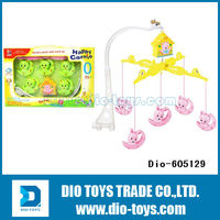 HOT baby toy plastic baby rattle bed bell toys plastic toy ring for children