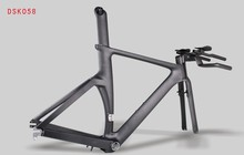 New design and wholesale 700C carbon TT bike frame, time trial carbon triathlon bike China