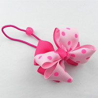 soft 3d rattle fashion elastic hair ties for girls