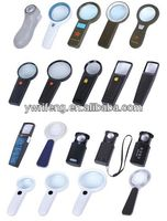2014 Promotion gifts pocket led magnifier/acrylic lens/magnifier keychain vners brand
