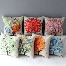 DZT157227 Colorful Tree of Life Throw Pillow Cover Cushion Cases