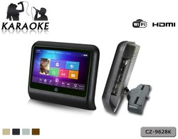 HD Android car headrest monitor Car Display with KTV Player HDMI 1080P USB SD built in WiFi Touchscreen